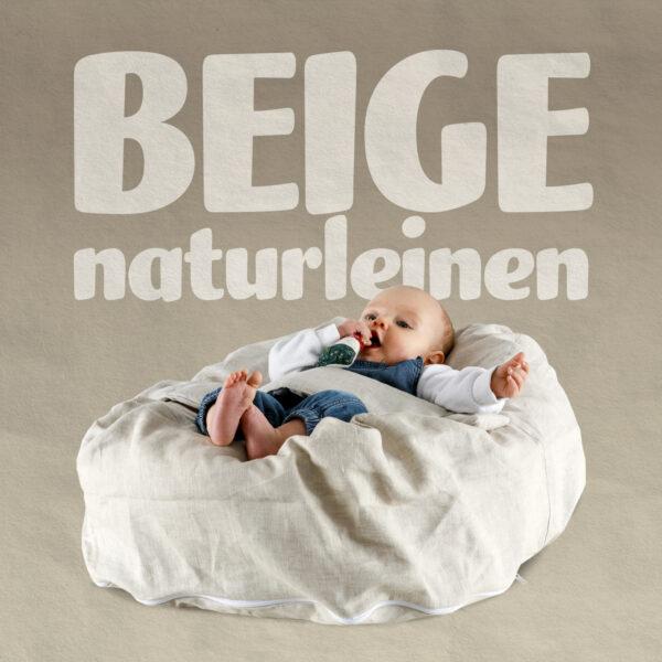 Babykissen Naturleinen, Rein Natürlicher Bezug
