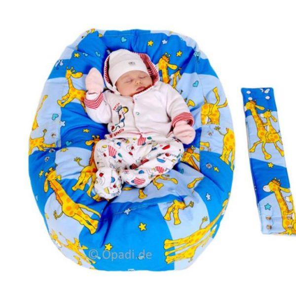 Liegekissen & Kindersitzsack Giraffen blau