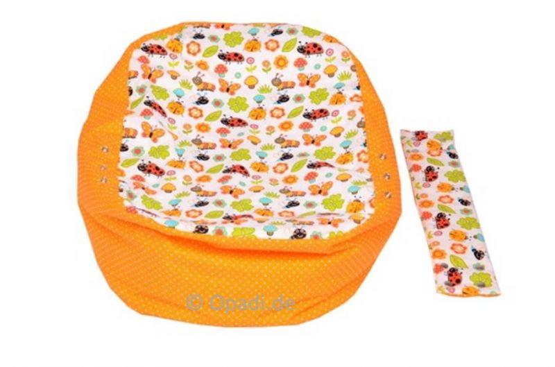 Babykissen & Kindersitzsack Marienkäfer orange