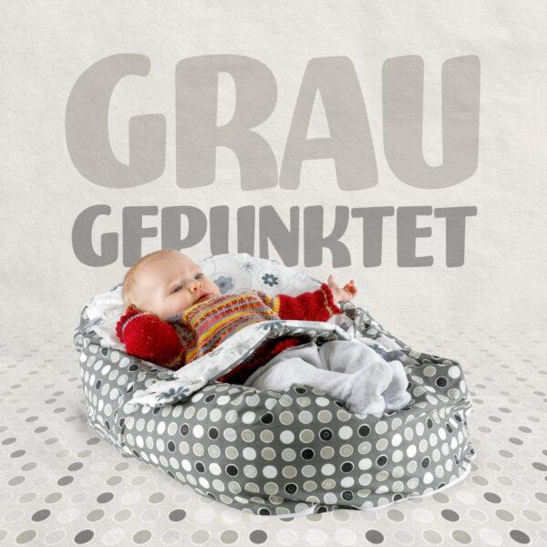 post_grau_gepunktet opadi babyliegekissen