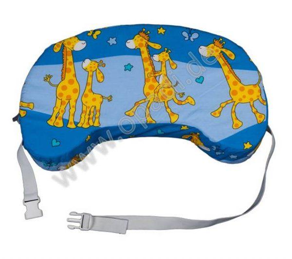 Reisestillkissen Giraffe blau