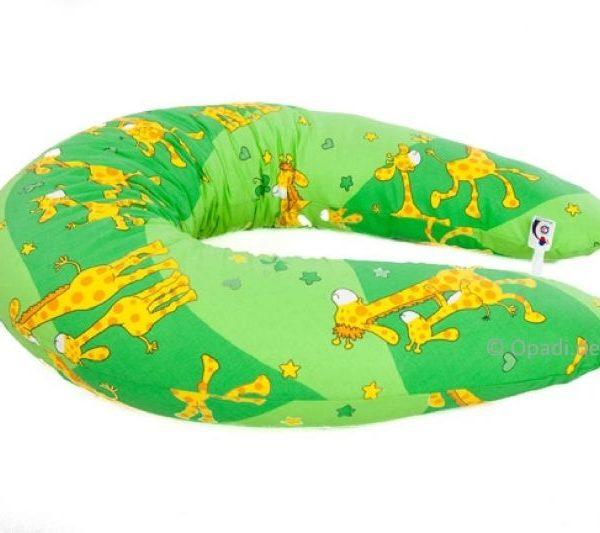 Stillkissen & Seitenliegekissen Giraffen grün