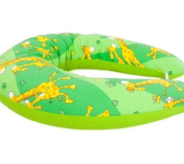 Stillkissen & Seitenliegekissen Giraffen grün, Farbmix