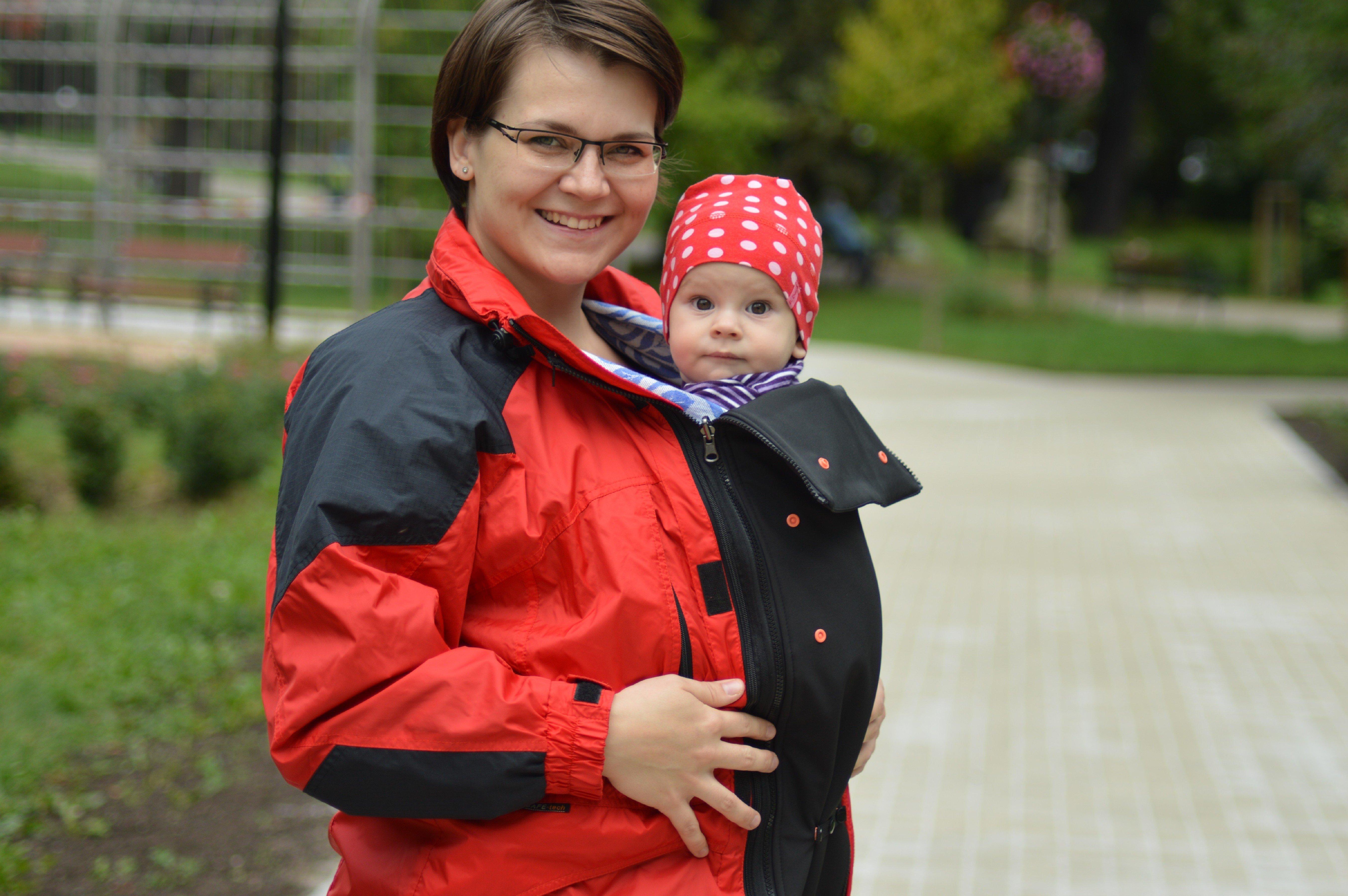 Jackeneinsatz für die Schwangerschaft und für Tragejacke