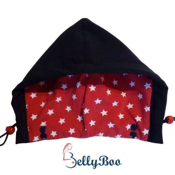 Jackenerweiterung Bellyboo, kaputze rot