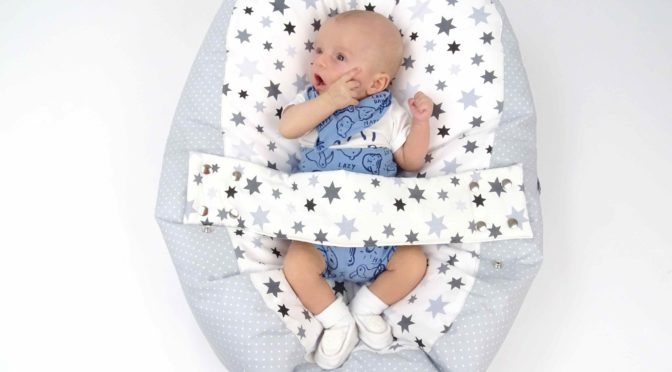 """baby Liegekissen """"Stars"""" Mit Sternmuster"""