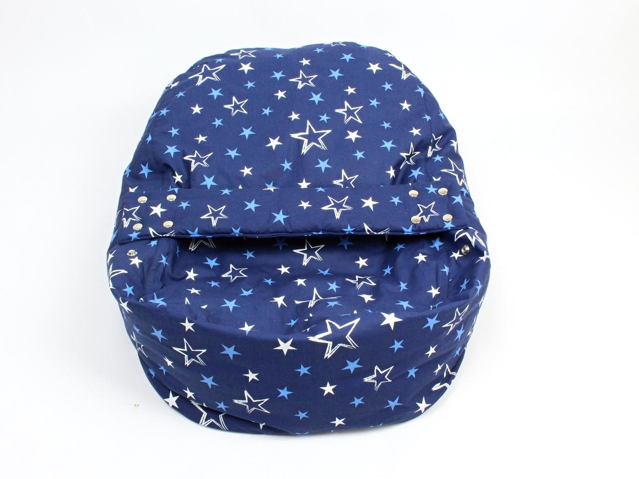Liegekissen Sterne blau 3