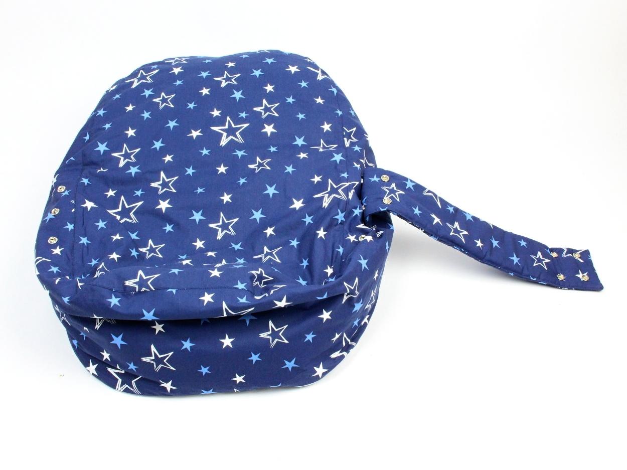 Liegekissen Sterne blau 4