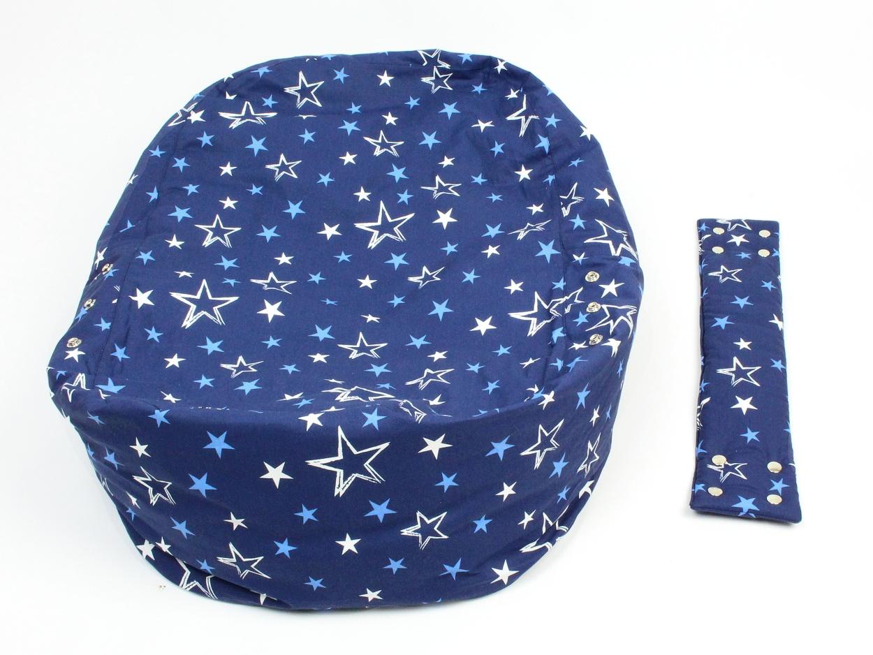 Liegekissen Sterne blau 5