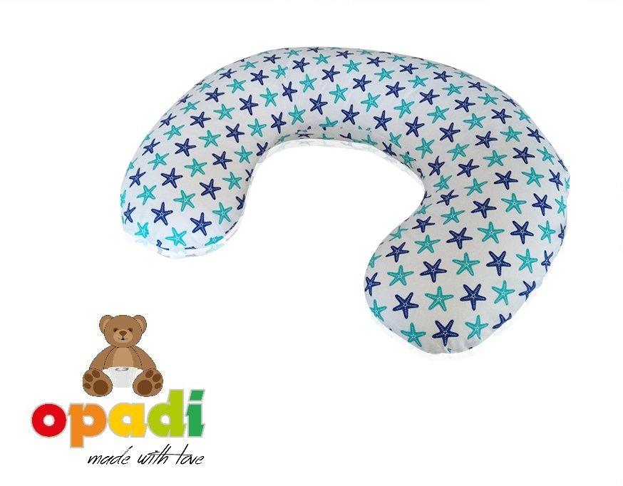 Opadi Stillkissen Mini, kleine Sterne blau