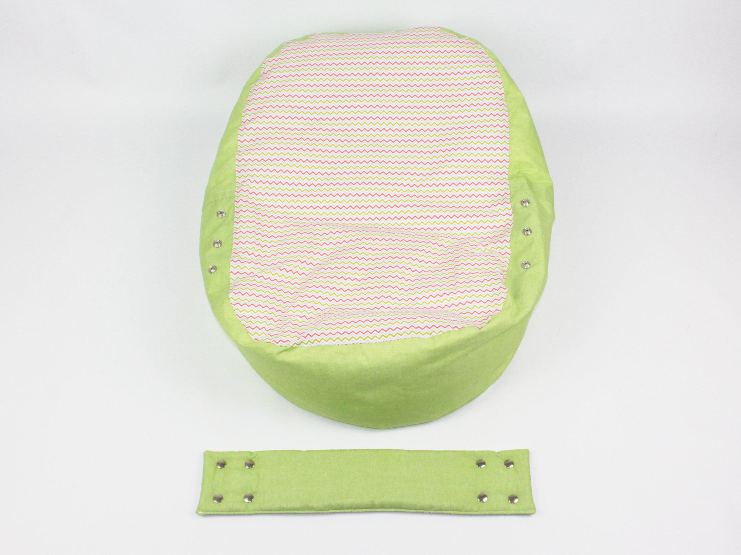 Liegekissen grün Wellen 5