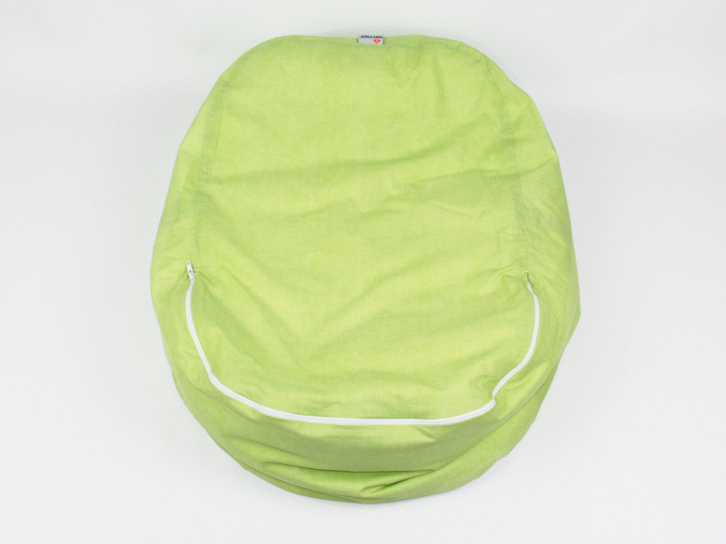 Liegekissen grün Wellen 6