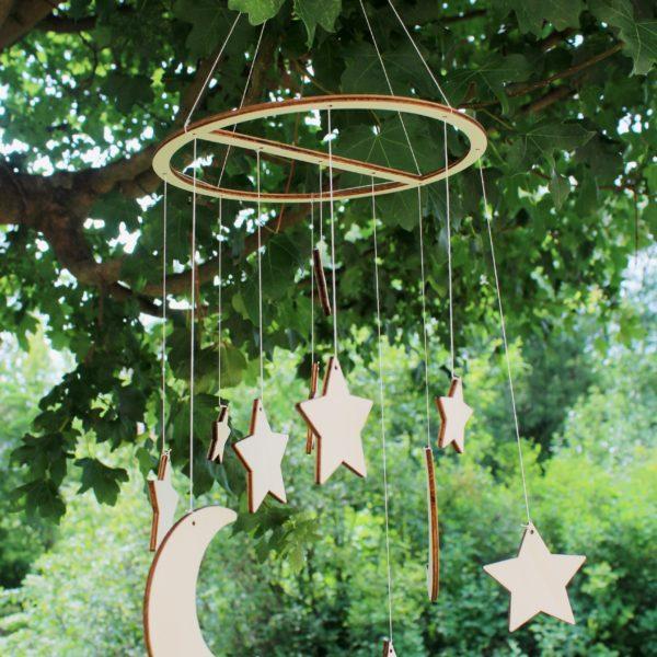 Baby Mobile Aus Holz Mit Sternen Und Mond Kaufen