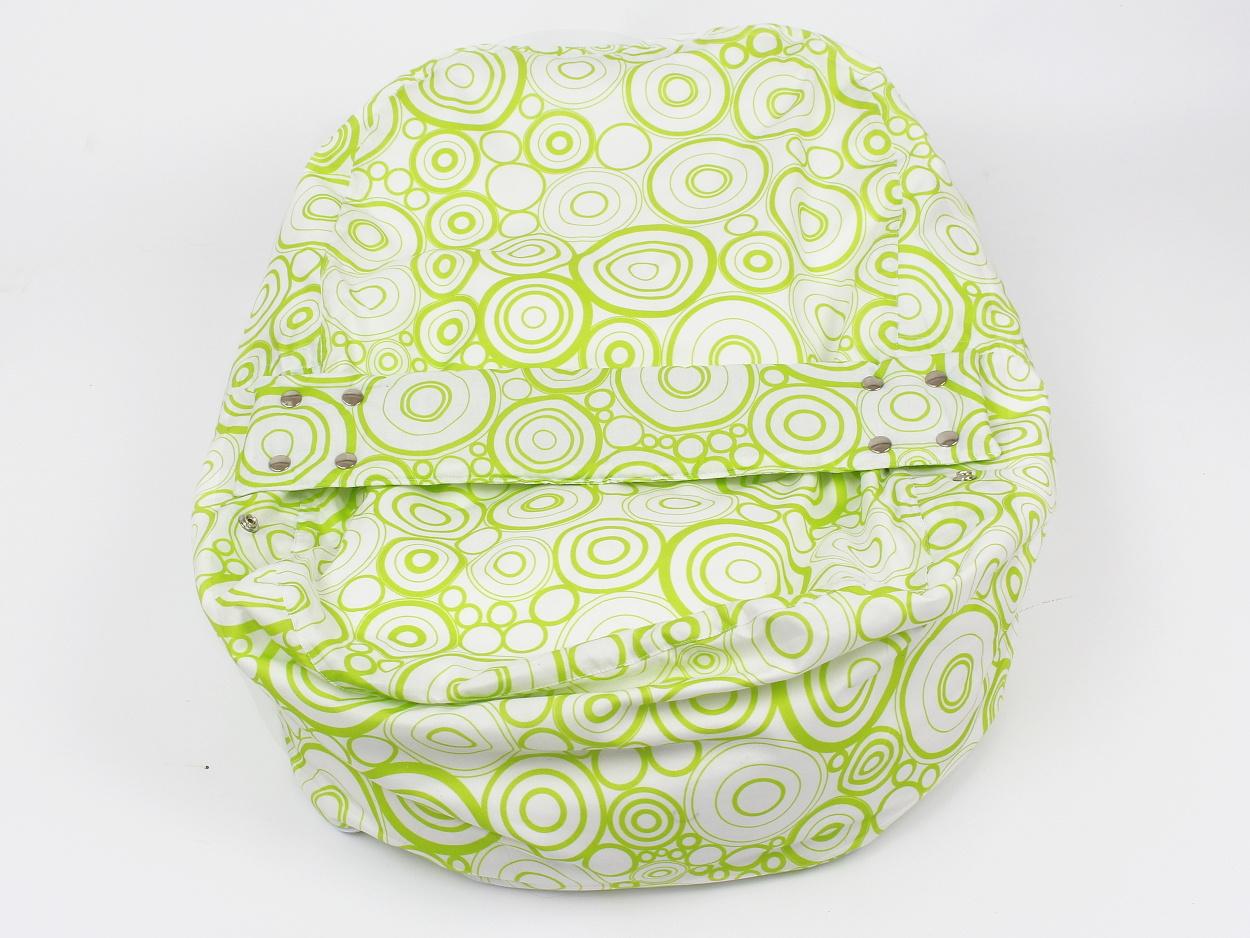 Liegekissen grüne Kreise 8
