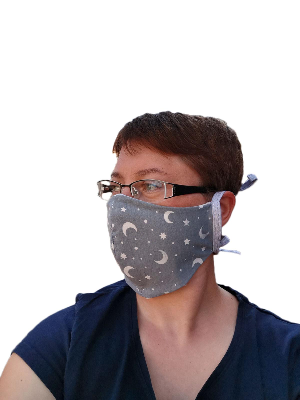 Behelfsmaske als Mundschutz für Erwachsene