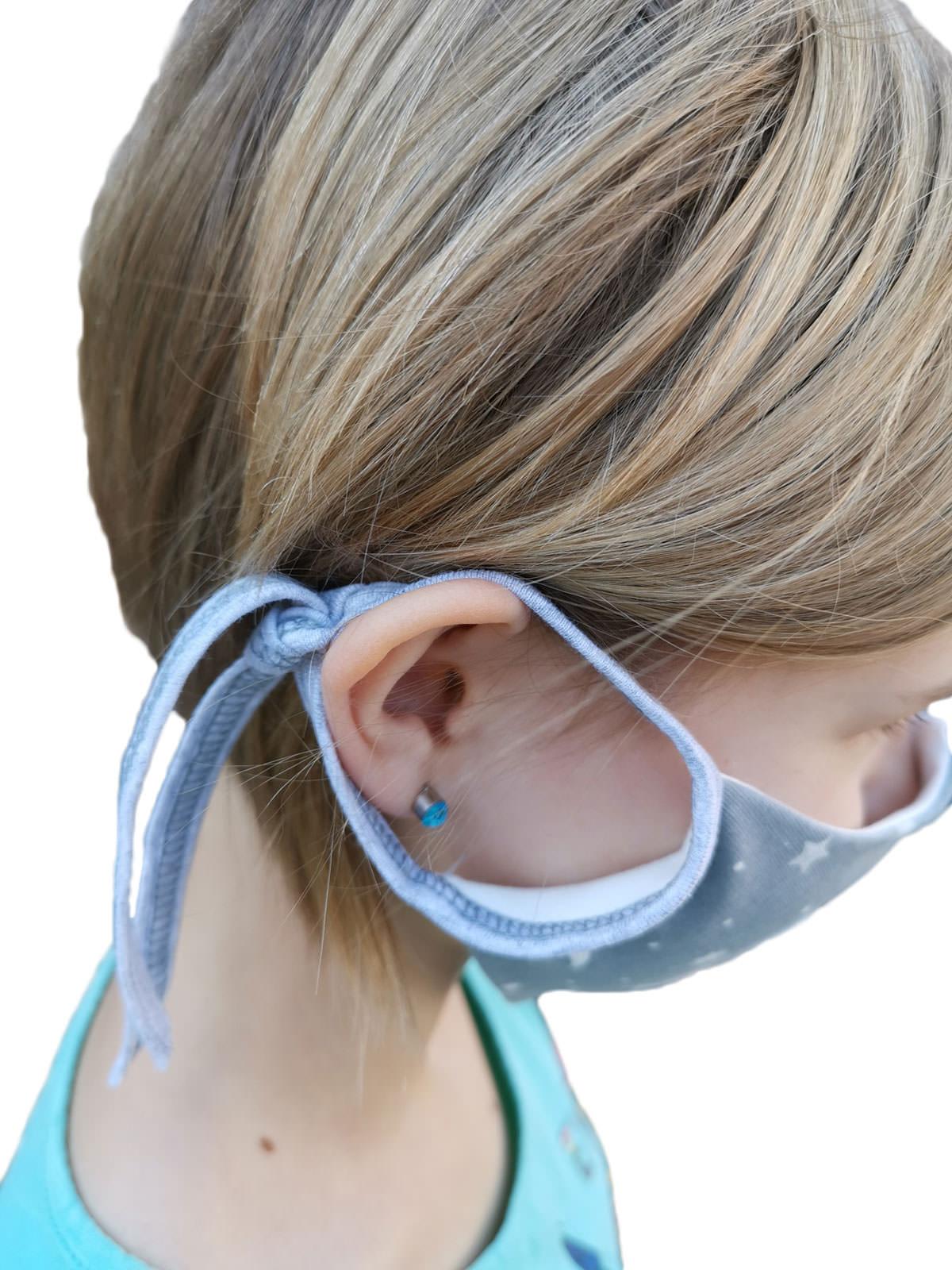 Gesichtsmaske für Kinder hinten