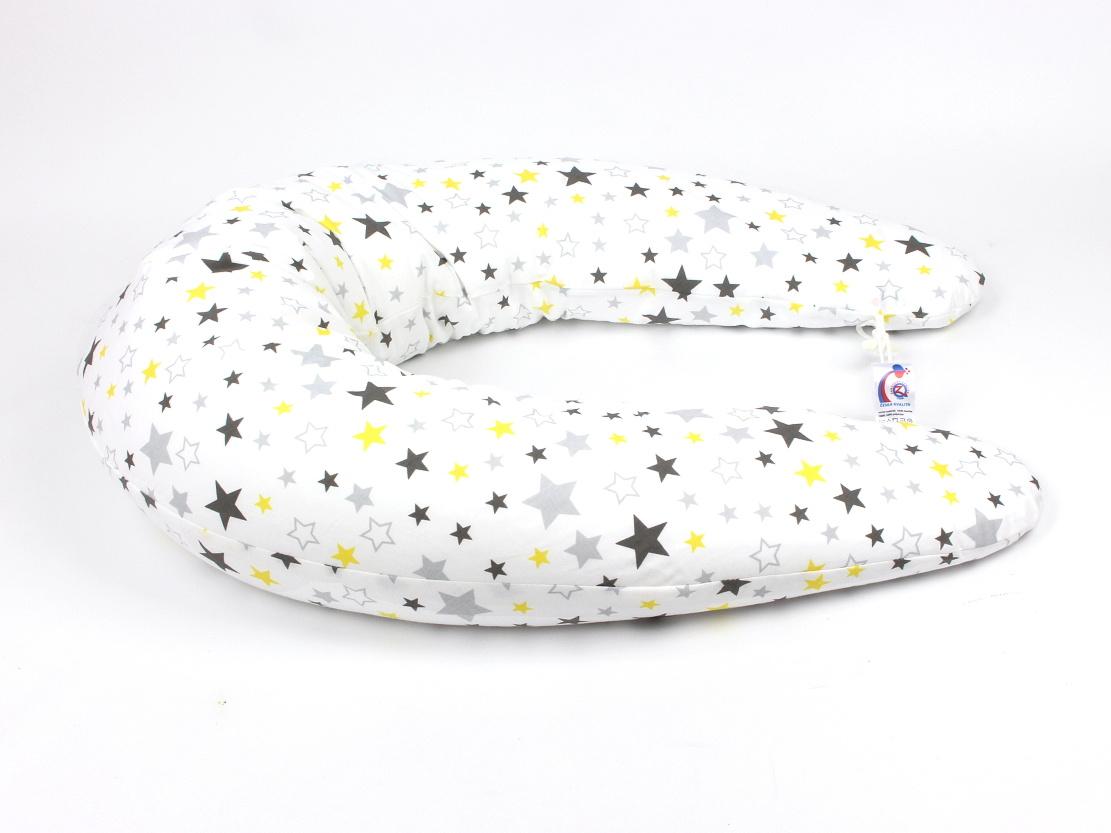 Stillkissen Stars gelb-grau 4