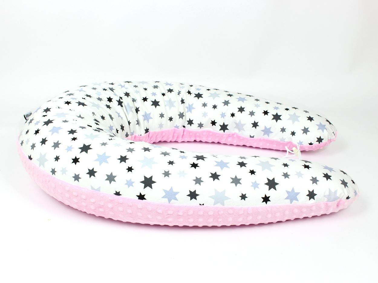 Stillkissen Stars rosa Minky 1