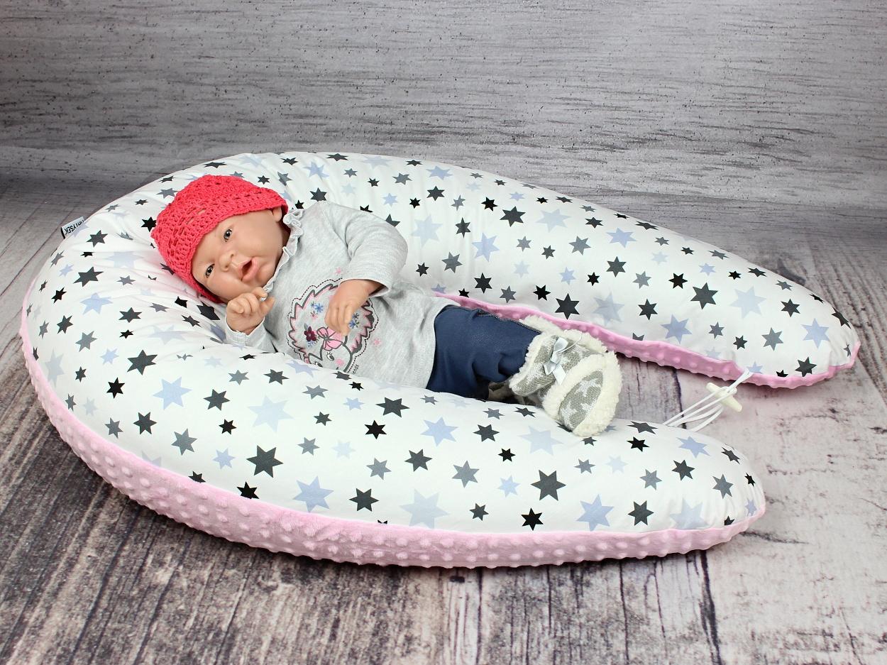 Stillkissen Stars rosa Minky 9
